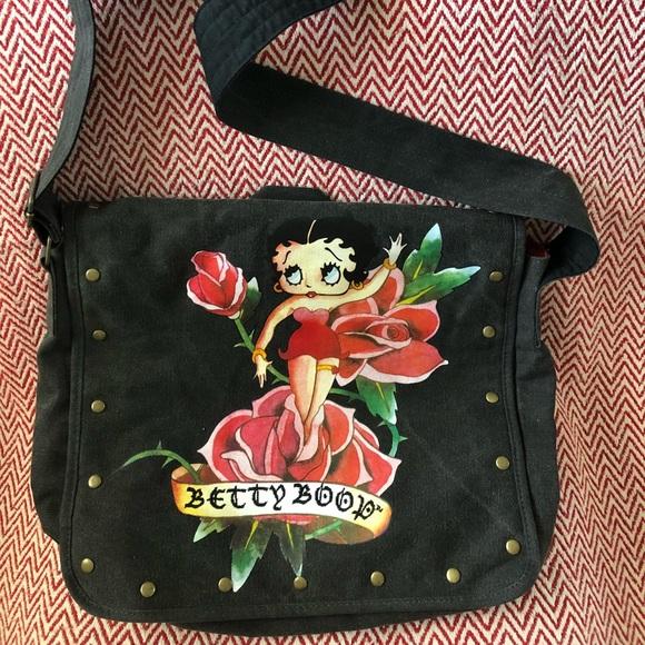 3af239688a0d Betty Boop Handbags - Cute Betty Boop Canvas Messenger Bag